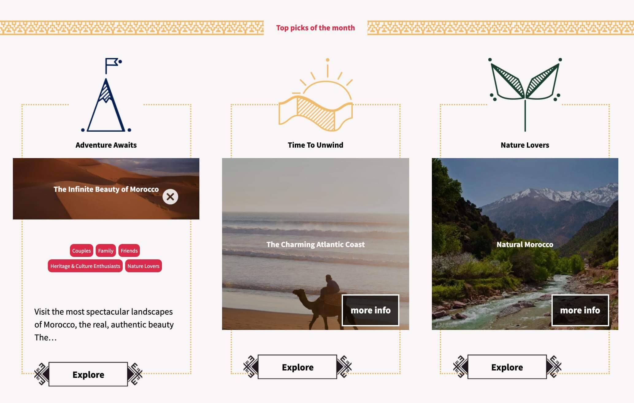 Screenshot of the concept of branding for Alternative Morocco